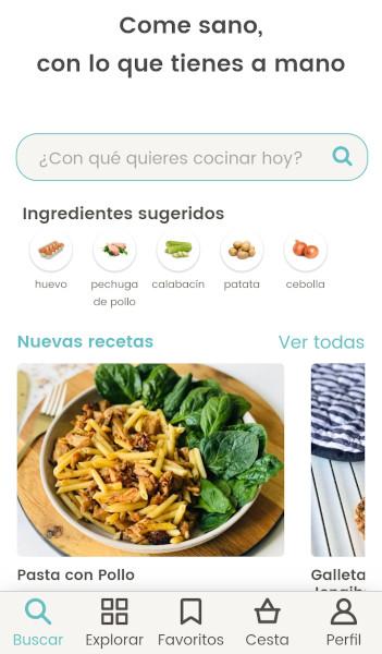 app de recetas Nooddle