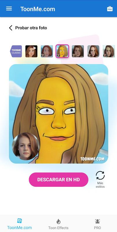 caricatura de los Simpson Toonme