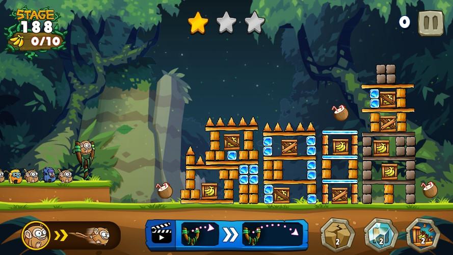 lanzamiento de monos en Catapult Quest